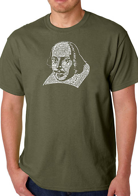 Word Art Graphic T-Shirt - The Titles of All of William Shakespeares Comedies and Tragedies
