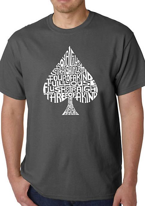 Word Art Graphic T-Shirt - Order of Winning Poker Hands