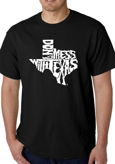 Mens Word Art Graphic T-Shirt - Dont Mess With Texas