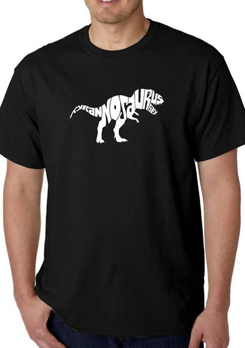 Mens Word Art Graphic T-Shirt - T-Rex