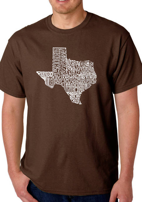 Mens Word Art Graphic T-Shirt - The Great State of Texas