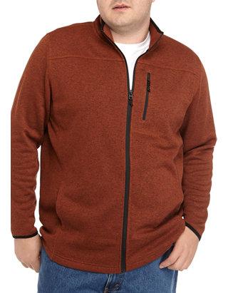 Big & Tall Full Zip Fleece Jacket