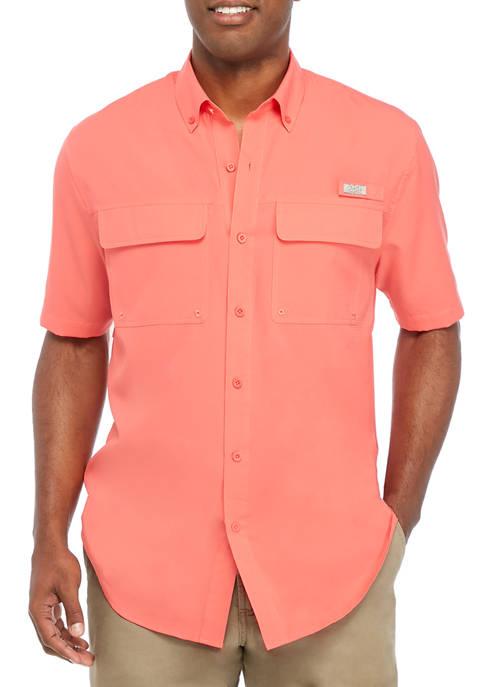 Ocean & Coast® Mens Short Sleeve Fishing Shirt