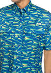 Mens Short Sleeve Printed Fishing Shirt