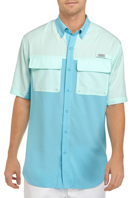 Ocean & Coast® Mens Color Block Fishing Shirt