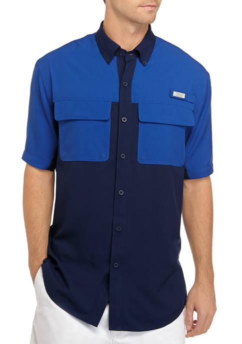 Ocean & Coast® Mens Color Block Fishing Shirt