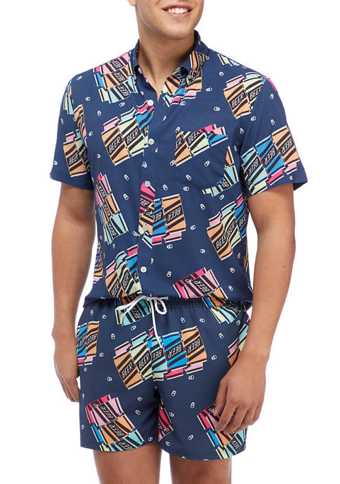 Cabana by Crown & Ivy™ Short Sleeve Woven