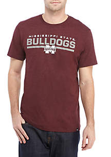 47 Brand Mississippi State Bulldogs Short Sleeve Club Tee
