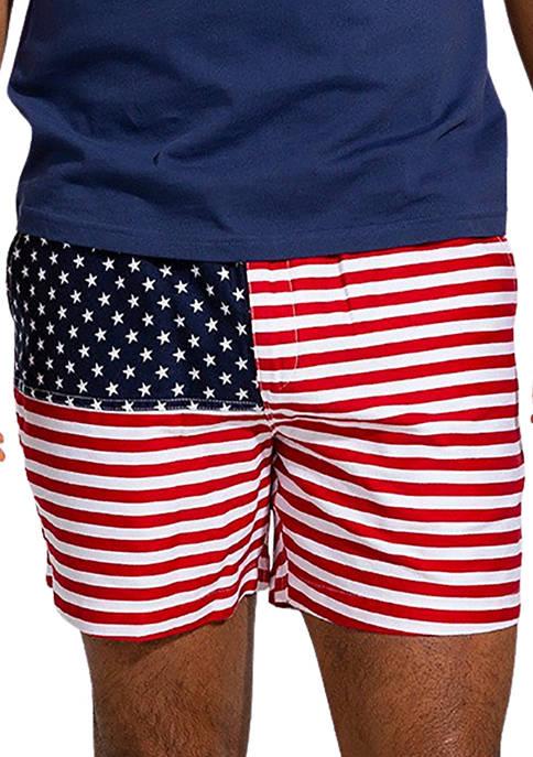 CHUBBIES Mens American Flag Shorts