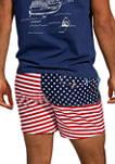 Mens American Flag Shorts