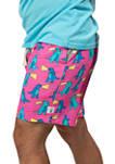 Mens 7 Inch Napzilla Shorts - Pink