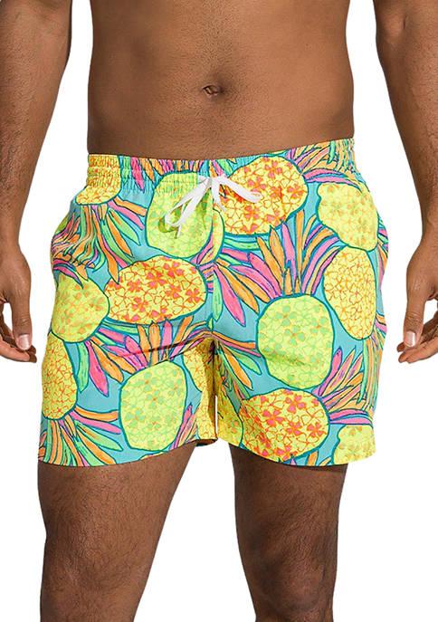 Multi Color Pineapple Swim Trunks