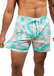 Mens 5.5 Inch Sand Stroller Shorts - Mint