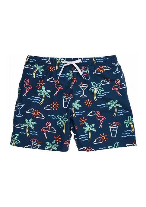 7 Inch The Neon Lights Swim Shorts