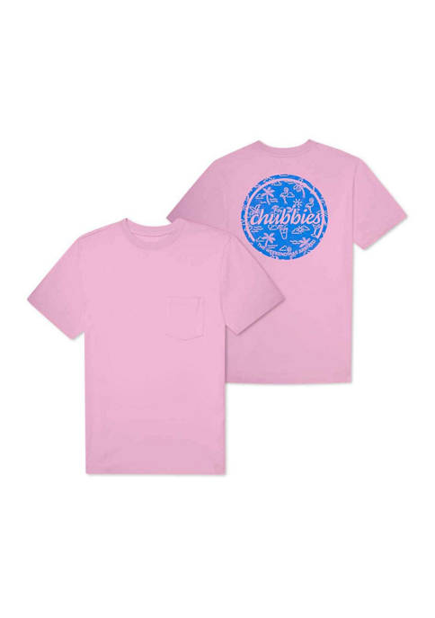 CHUBBIES The Pink Neon Graphic T-Shirt