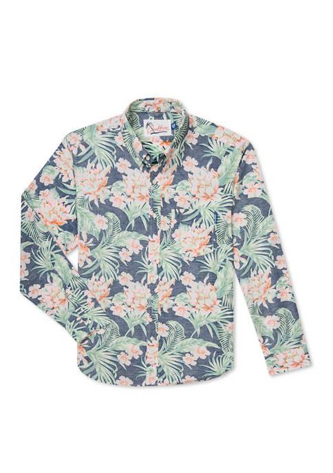 CHUBBIES The Formal Floral Long Sleeve Hawaiian Shirt