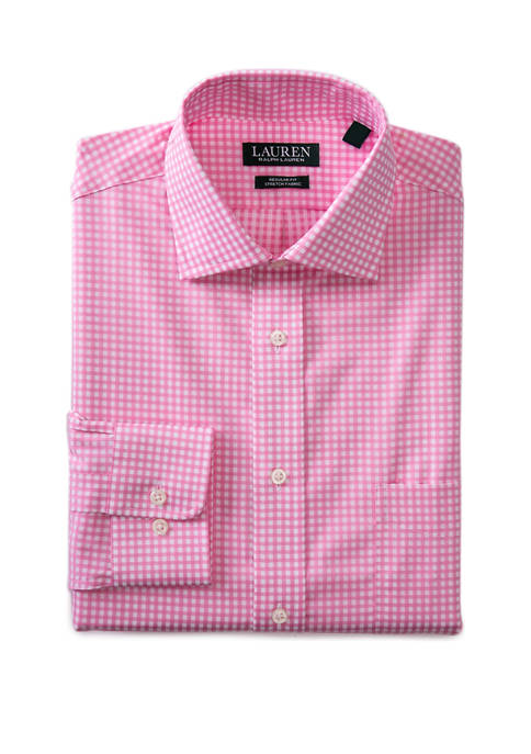 3-Pack Lauren Ralph Lauren Men's Ultra Flex Gingham Dress Shirt