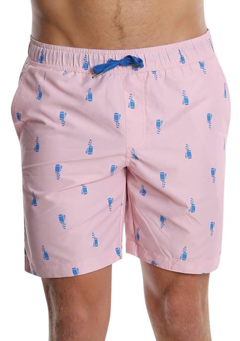 PGA TOUR® Pink Golf Bags Swim Trunks