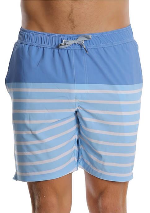 PGA TOUR® Blue Stripes Swim Trunks