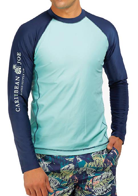 Caribbean Joe Long Sleeve Swim T-Shirt