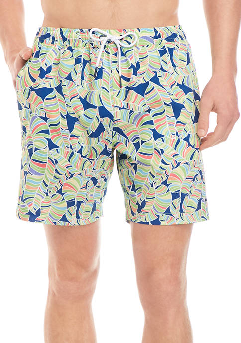 Crown & Ivy™ Printed Swim Trunks