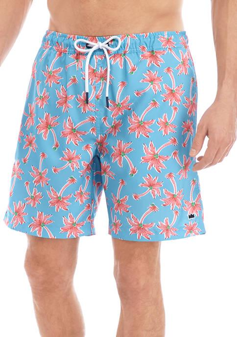 Crown & Ivy™ Printed Swim Trunks