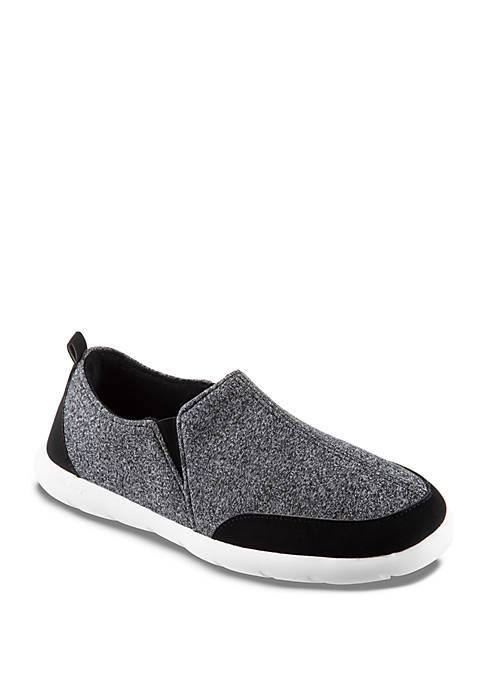isotoner Zenz Heathered Sport Knit Closed Back Slippers