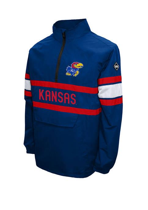 NCAA Kansas Jayhawks Alpha Quarter Zip Jacket