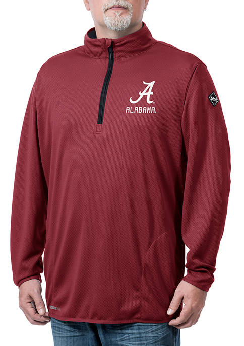 NCAA Alabama Crimson Tide Flow Thermatec Quarter Zip Jacket