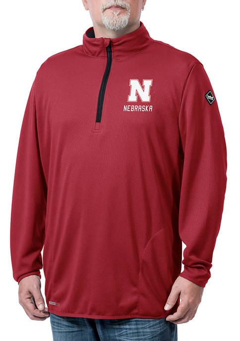 NCAA Nebraska Cornhuskers Flow Thermatec Quarter Zip Jacket