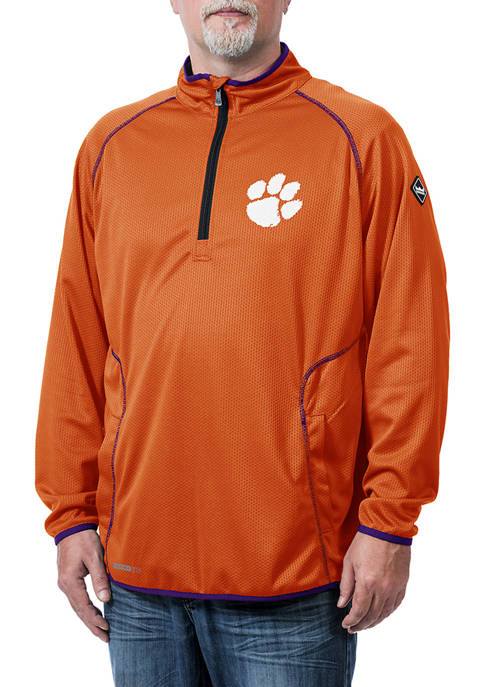 NCAA Clemson Tigers Tone Tech Quarter Zip Jacket