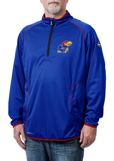 Franchise Club Mens NCAA Kansas Jayhawks Tone Tech