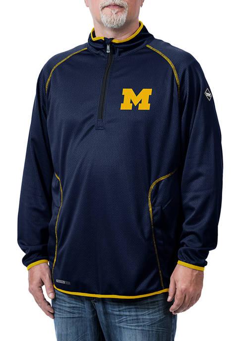 NCAA Michigan Wolverines Tone Tech Quarter Zip Jacket