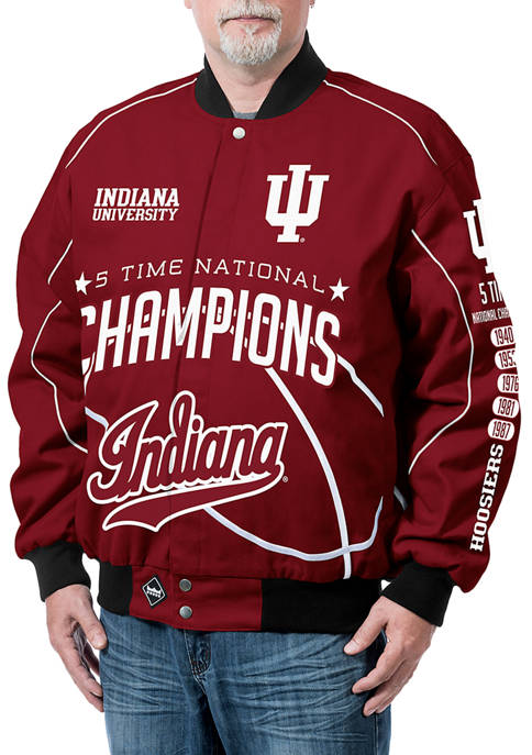 Franchise Club NCAA Indiana Hoosiers Commemorative Twill Jacket