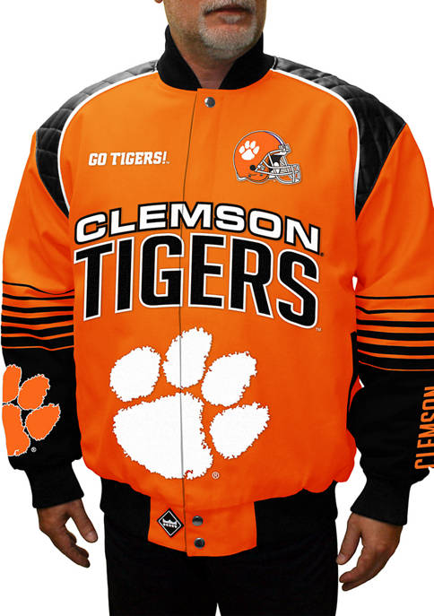 Big & Tall NCAA Clemson Tigers Boss Twill Jacket