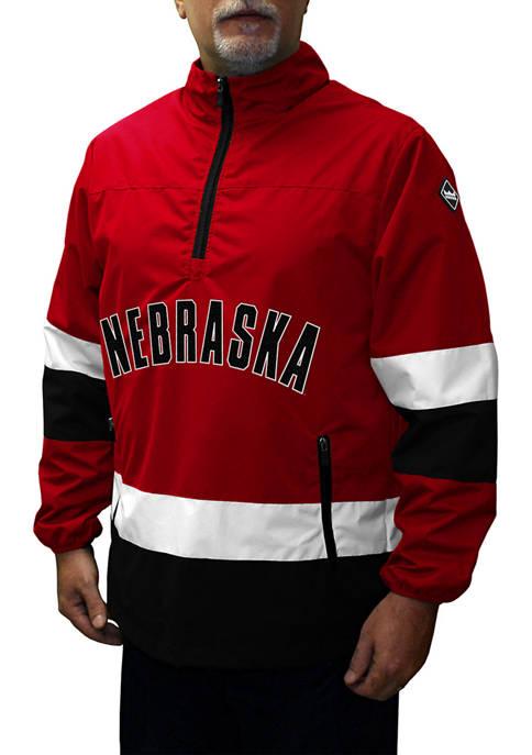 Big & Tall NCAA Nebraska Cornhuskers Grind Quarter Zip