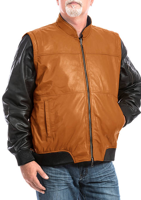 Franchise Club Mens 4-in-1 Bomber Jacket