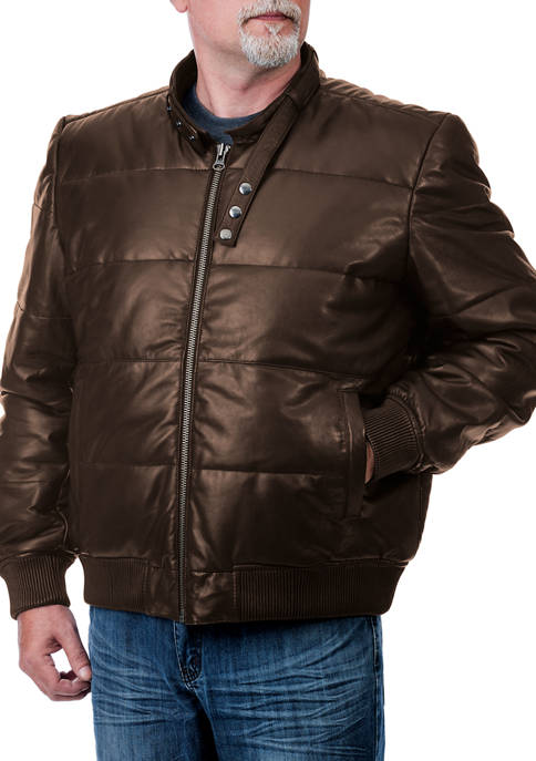 Franchise Club Mens Racer Bomber Jacket