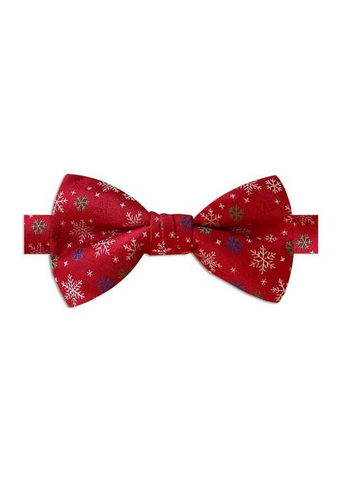 Joyland Red Snowflake Bow Tie