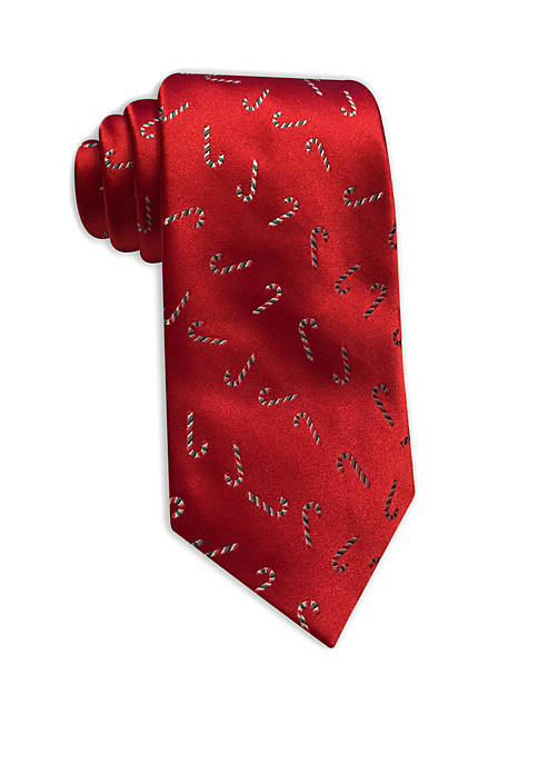Joyland Mens Candy Cane Tossed Tie