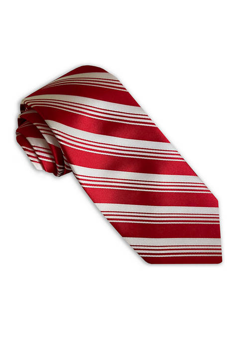Red White Candy Cane Tie