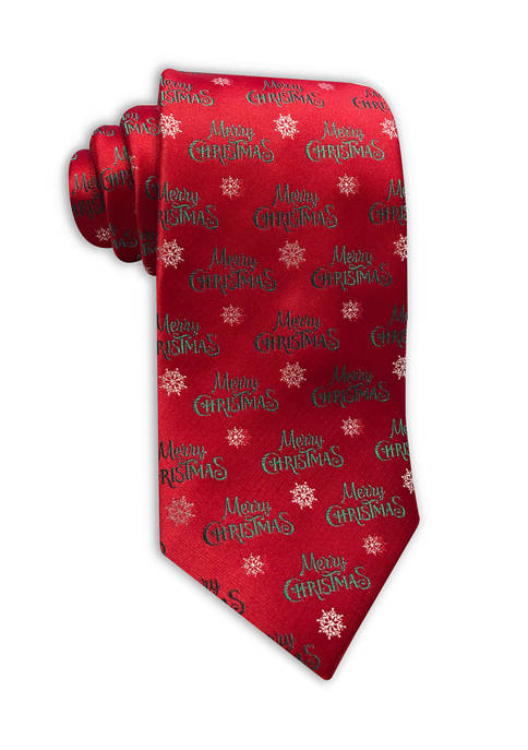 Red Merry Christmas Tie