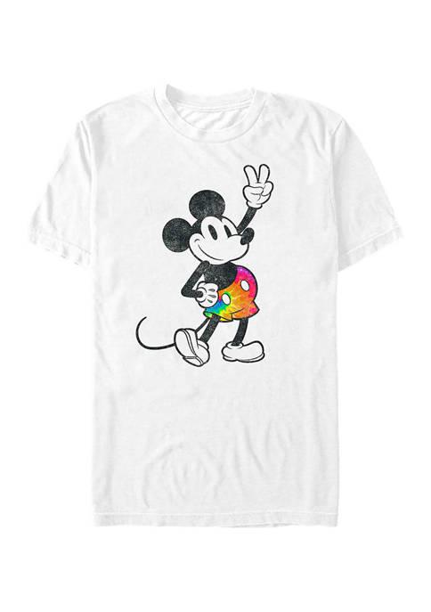 Mickey Classic Tie Dye Mickey Stroked T-Shirt