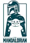 Star Wars The Mandalorian Cute Silhouette T-Shirt