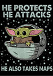 Star Wars The Mandalorian Naps T-Shirt