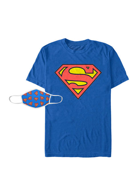 Superman™ Superman Logo Combo Graphic T-Shirt and Mask