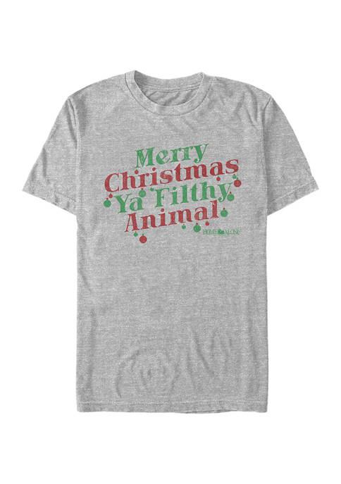 Home Alone Merry Christmas Ya Filthy Animal Graphic T-Shirt