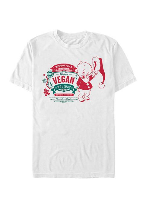 Looney Tunes Vegan Holiday Graphic T-Shirt