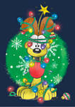 Garfield Odie Lights Graphic T-Shirt