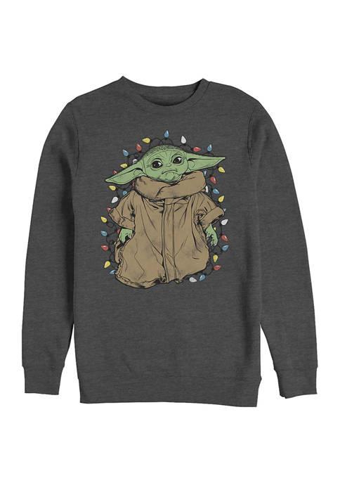 The Mandalorian Tangled Crew Fleece Graphic Sweater